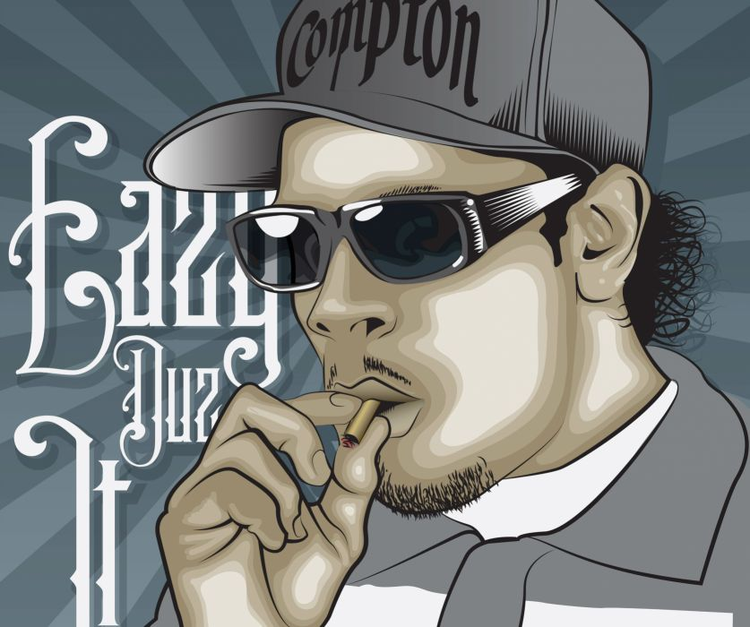 Eazy E nwa gangsta rapper rap hip hop eazy-e marijuana weed 420   d wallpaper