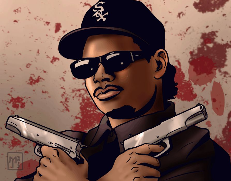 Eazy E nwa gangsta rapper rap hip hop eazy-e weapon gun     d wallpaper