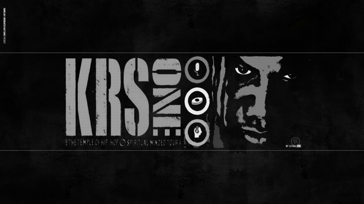 KRS-ONE gangsta rapper rap hip hop krs one poster      fb wallpaper