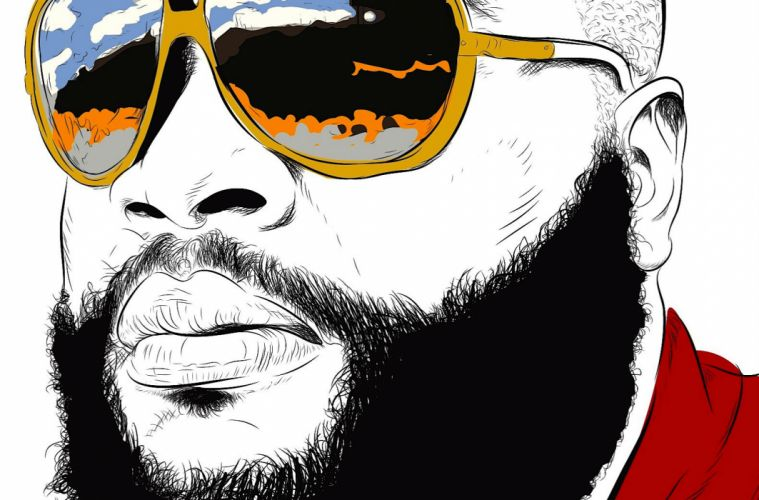 RICK ROSS gangsta rapper rap hip hop sunglasses glasses reflection art g wallpaper
