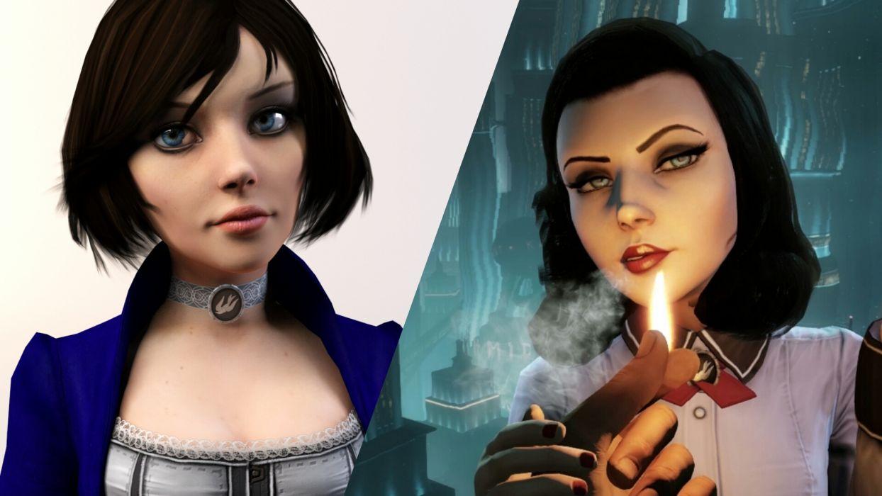 Bioshock Infinite - Comparison of Elizabeth wallpaper