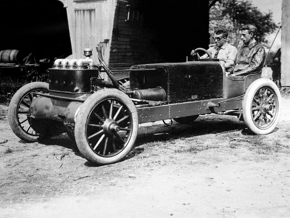 1904 Christie Blue Flyer retro race racing engine       h wallpaper
