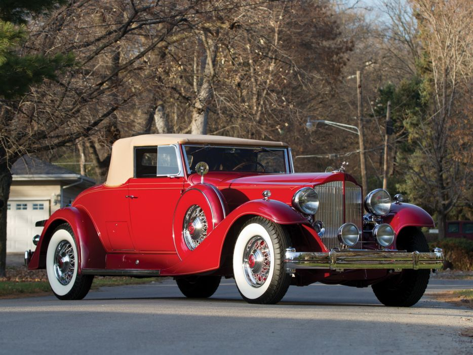 1933 Packard Twelve Coupe Roadster 1005-639 luxury retro   fs wallpaper