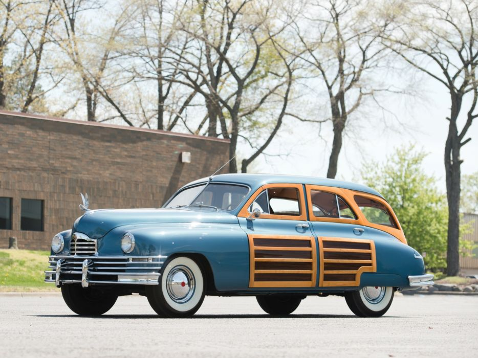 1950 Packard Standard Eight Station Sedan (2301-2393) stationwagon retro    f wallpaper