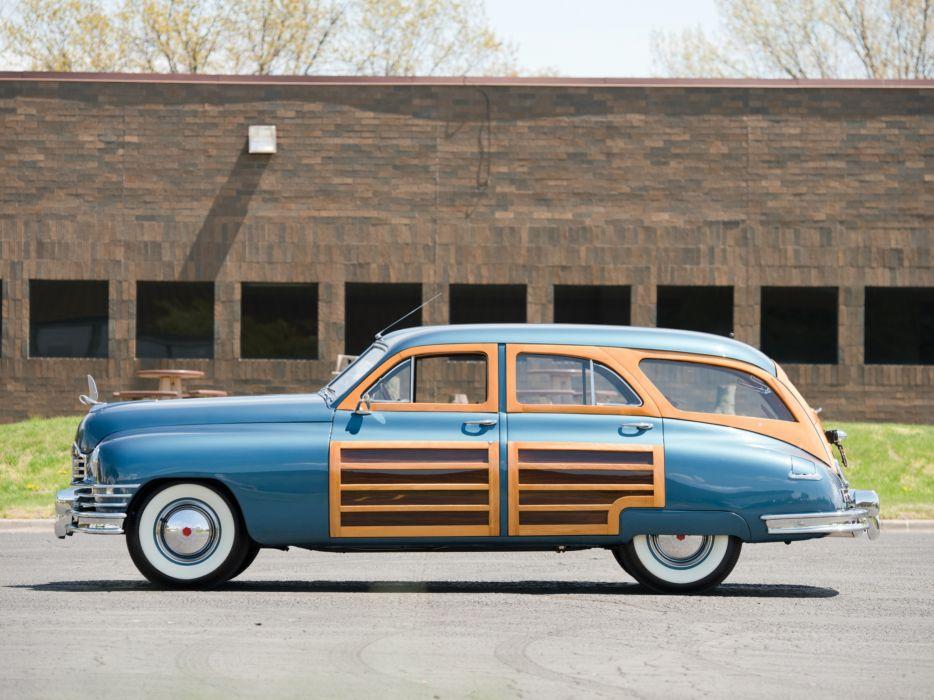 1950 Packard Standard Eight Station Sedan (2301-2393) stationwagon retro  d wallpaper