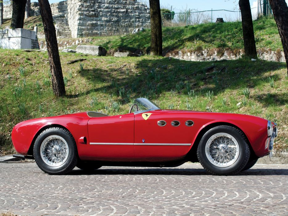 1952 Ferrari 225 Sport Spyder Tuboscocca supercar retro    da wallpaper
