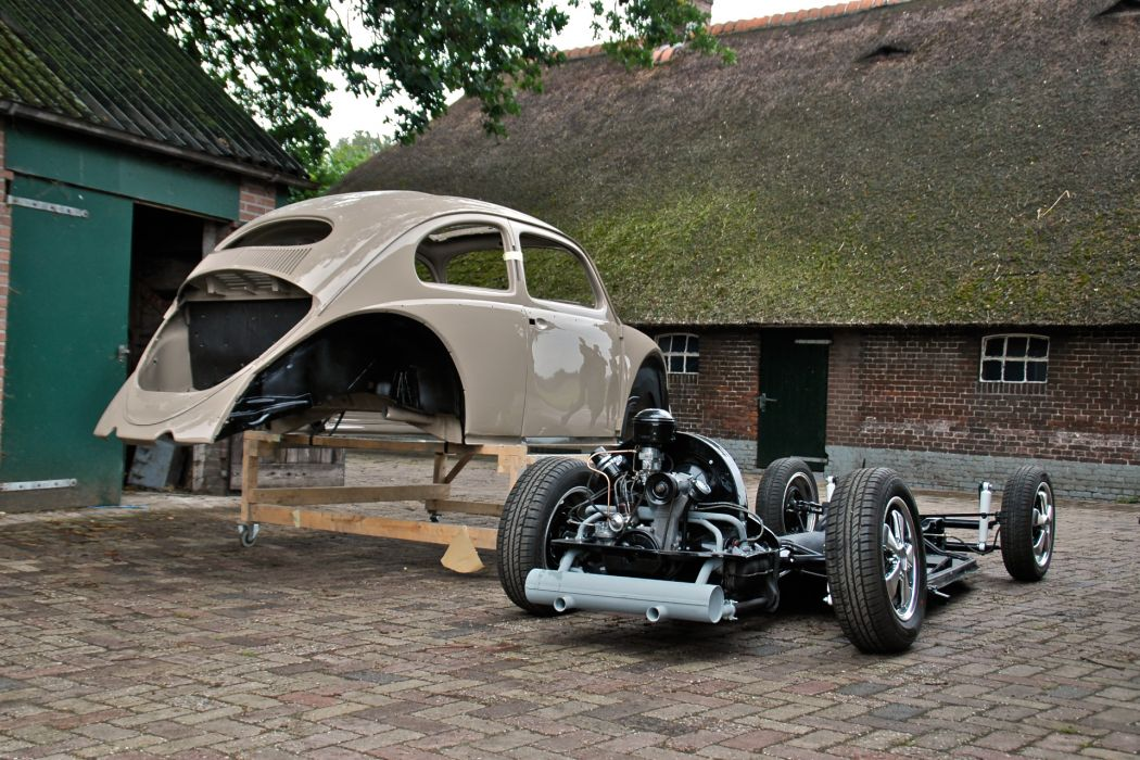 1957 Volkswagon beetle bug tuning lowrider retro engine       f wallpaper