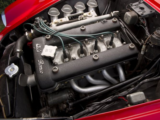 1961 Alfa Romeo Giulietta SZ Coda Tronca (101) classic engine h wallpaper