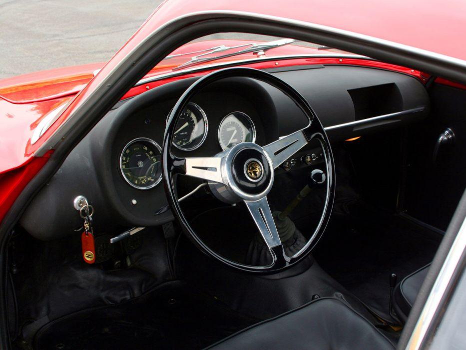 1961 Alfa Romeo Giulietta SZ Coda Tronca (101) classic interior     h wallpaper