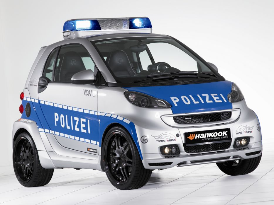 2007 Brabus Smart Ultimate 112 Concept police emergency     g wallpaper
