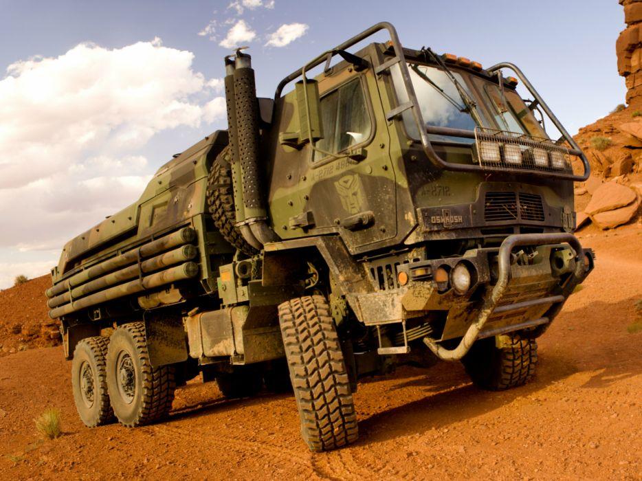 2014 Oshkosh FMTV Hound 6x6 military semi tractor     f wallpaper