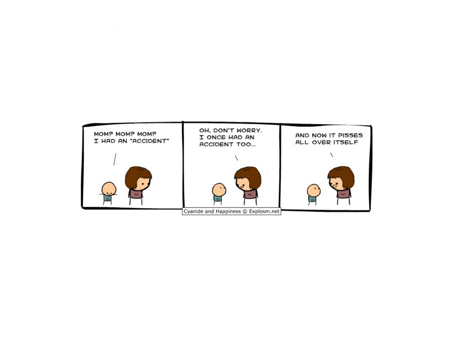 Cyanide comic strip can