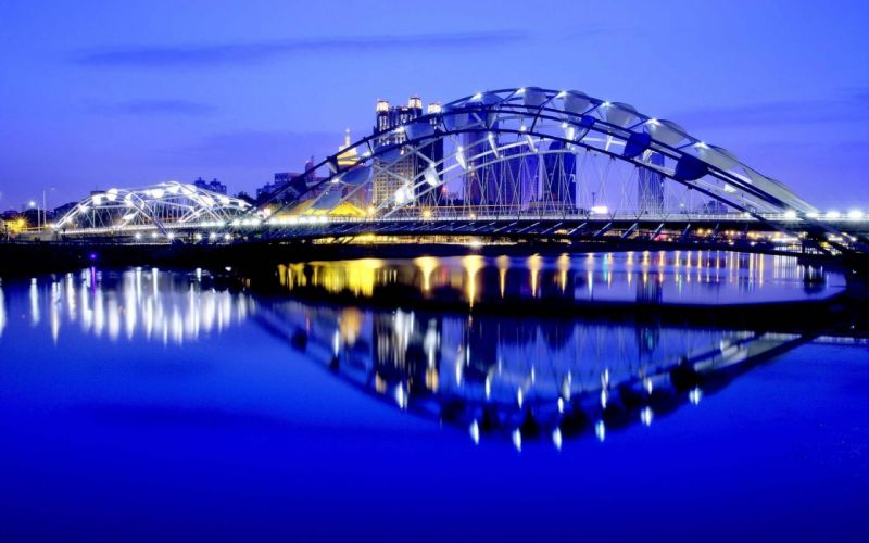 water cityscapes reflections wallpaper