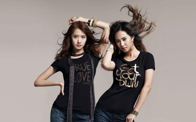 women Girls Generation SNSD Kwon Yuri Im YoonA wallpaper