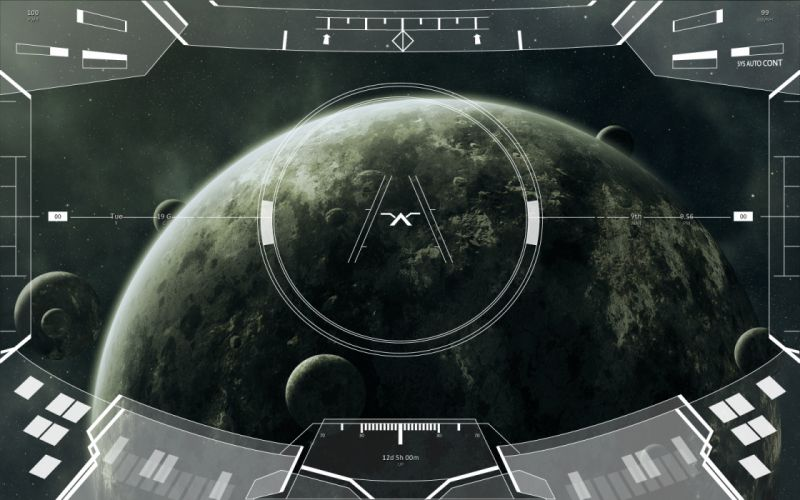 outer space planets HUD wallpaper