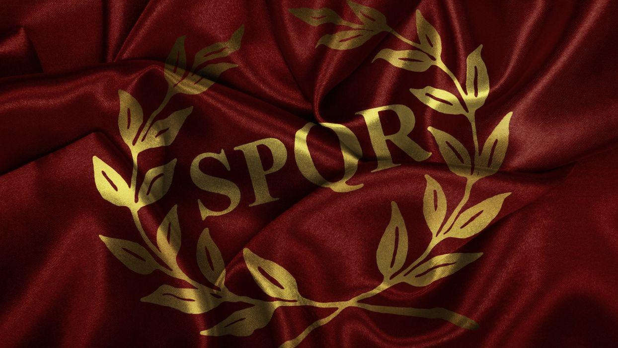 flags Roman SPQR wallpaper