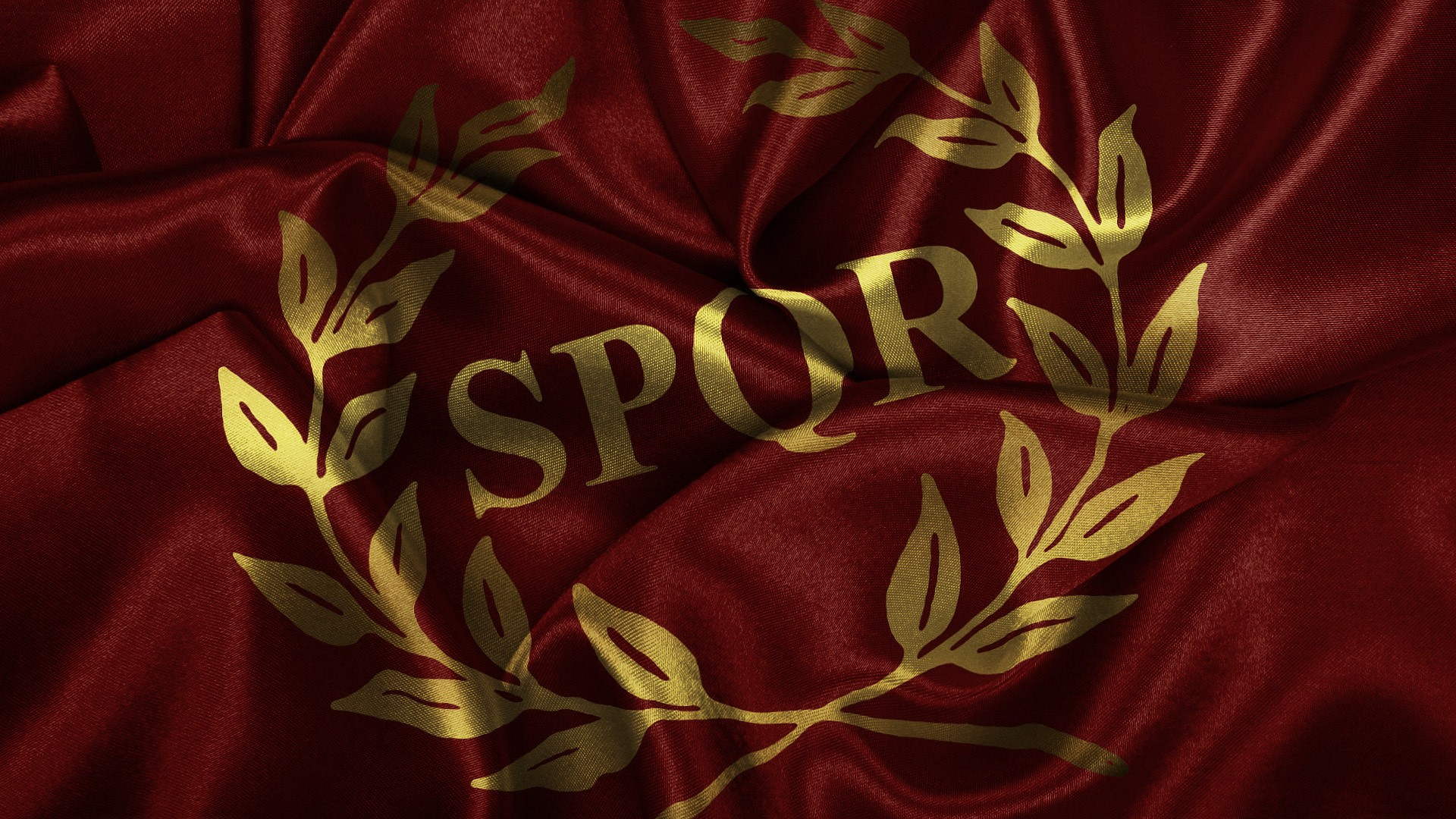 Flags Roman SPQR Wallpaper