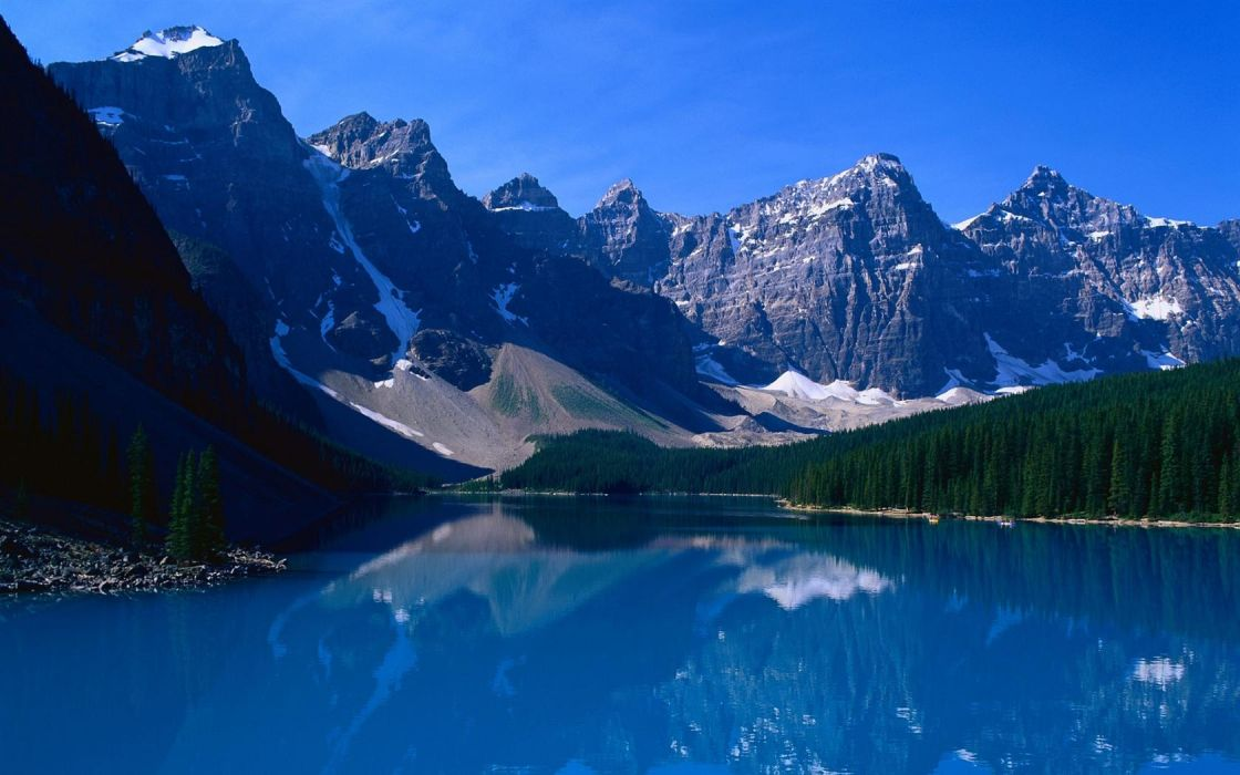mountains landscapes nature forests lakes wallpaper