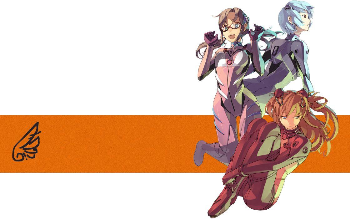 Ayanami Rei Neon Genesis Evangelion plugsuit Makinami Mari Illustrious Asuka Langley Soryu EVAs wallpaper