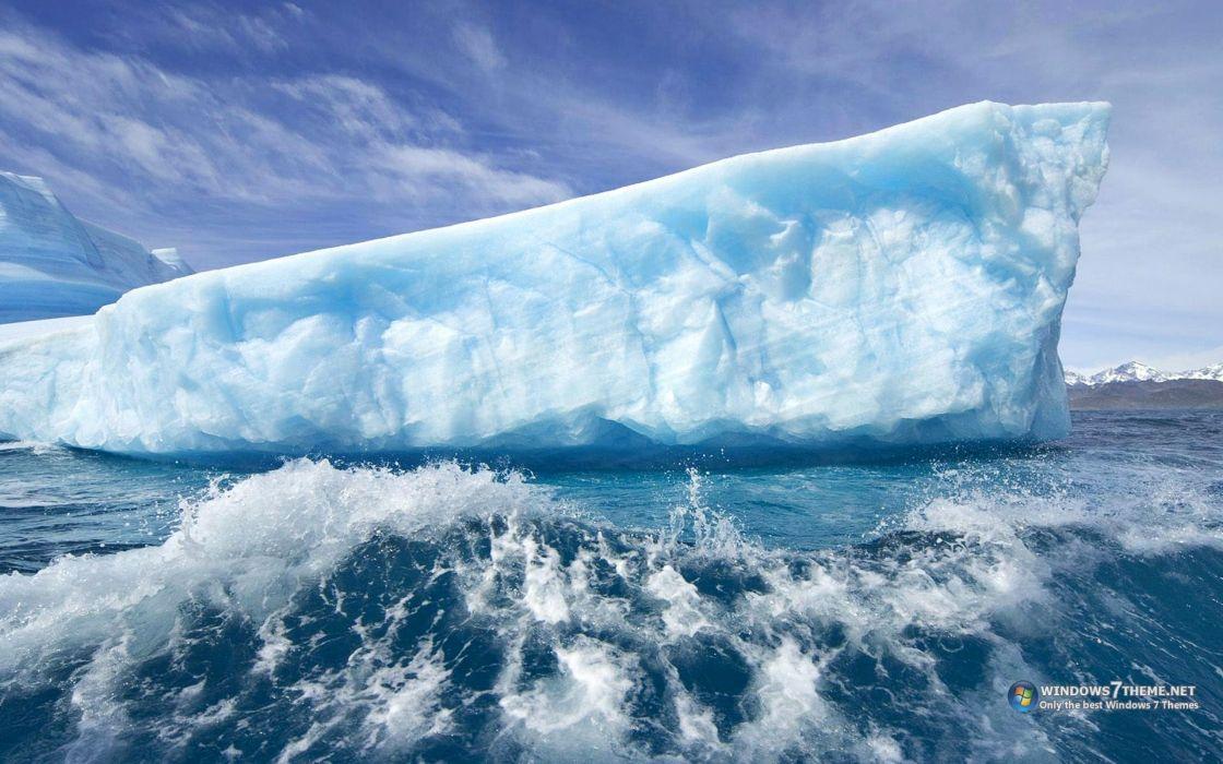 water ice giant icebergs wallpaper