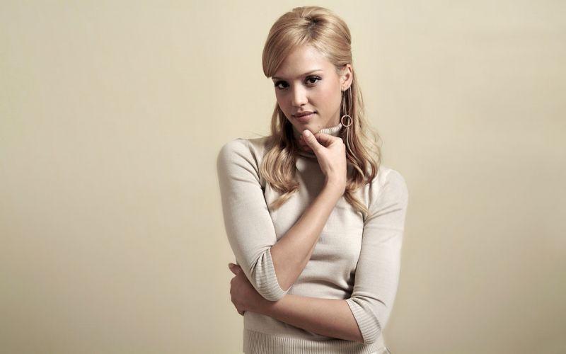 blondes women Jessica Alba actress wallpaper