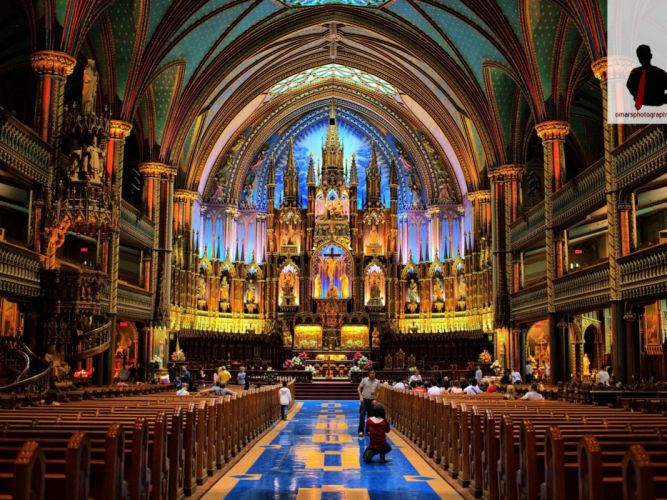 architecture Canada Montreal Quebec Notre Dame Geography North America attractions wallpaper