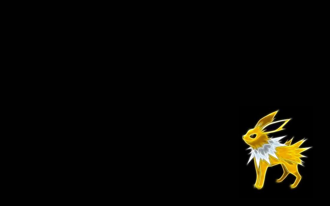 Pokemon Jolteon black background wallpaper