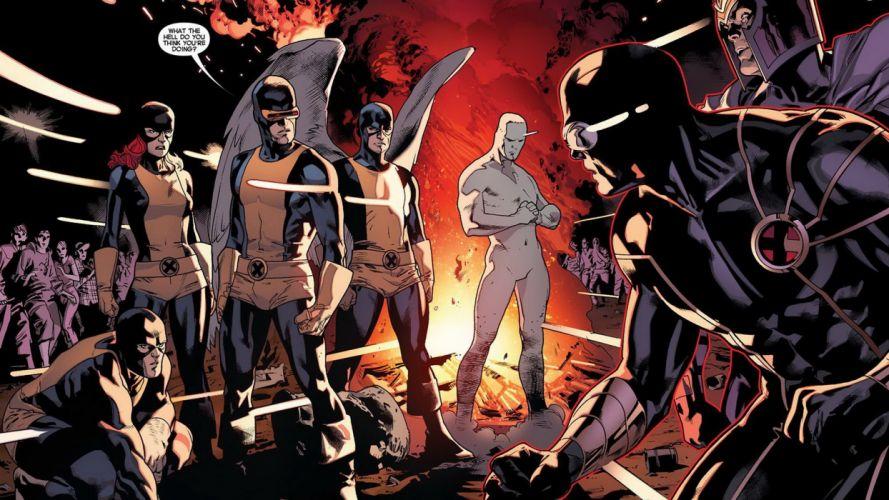 angels comics X-Men Jean Grey Magneto Marvel Comics Cyclops Iceman Hank McCoy (Beast) comic art Marvel NOW wallpaper