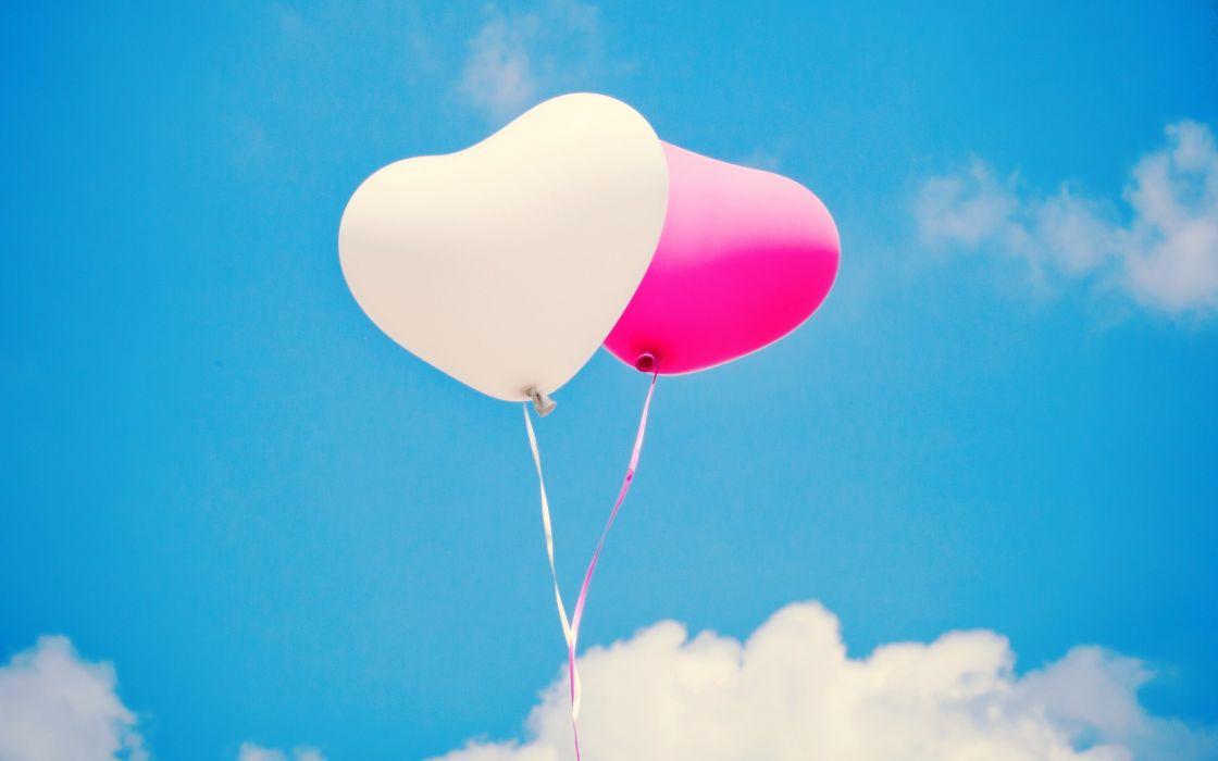 air balloons balls white heart balloon bokeh mood love wallpaper