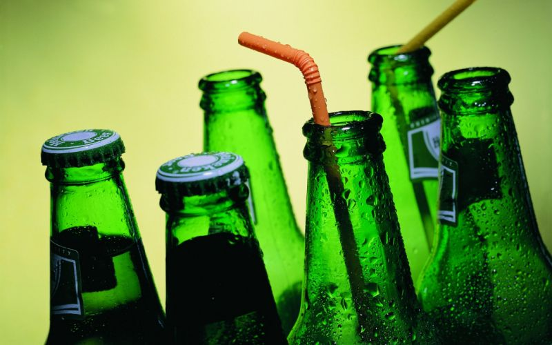 Heineken Beer pivas bottle bokeh g wallpaper