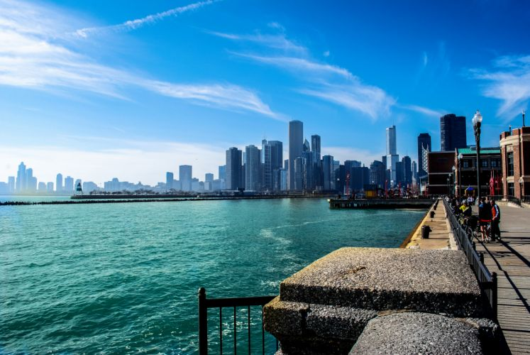 Michigan Chicago River gorod illinois wallpaper