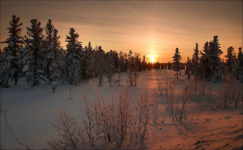 nature landscape winter snow sunrise eating beauty f wallpaper