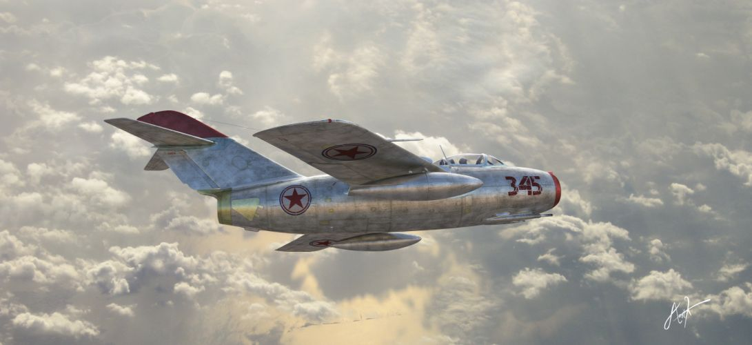 Soviet fighter the MiG-15 Air Force jet military f wallpaper