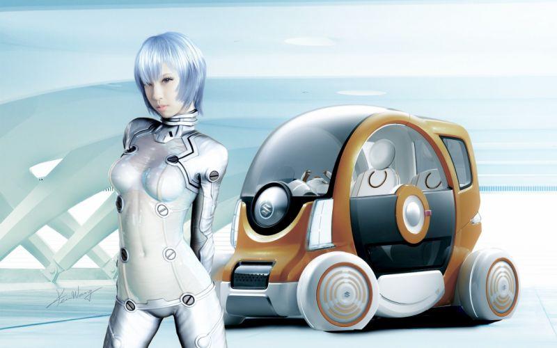 suzuki concept cyborg robot girl sci-fi f wallpaper