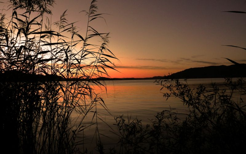 Lake Sunset reflection f wallpaper