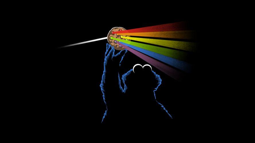 Pink Floyd Dark Side of the Moon Black Cookie Monster wallpaper