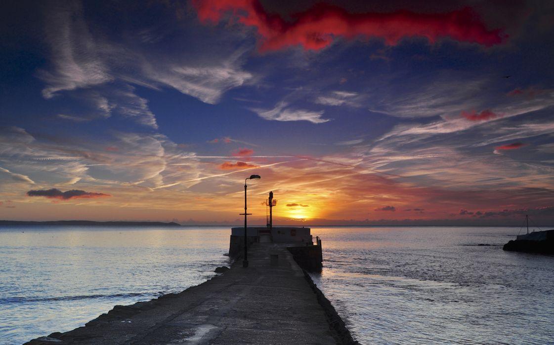 Sunset Ocean wallpaper