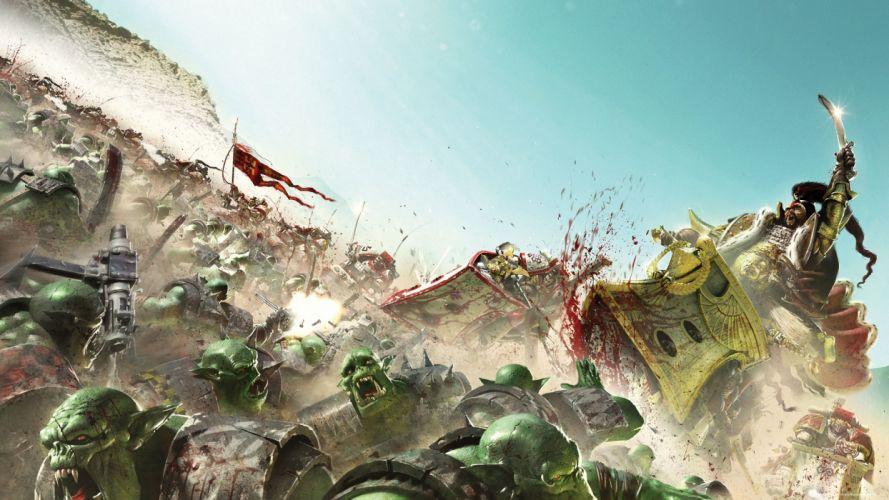 Warhammer 40k Space Marines Blood Battle sci-fi fantasy d wallpaper