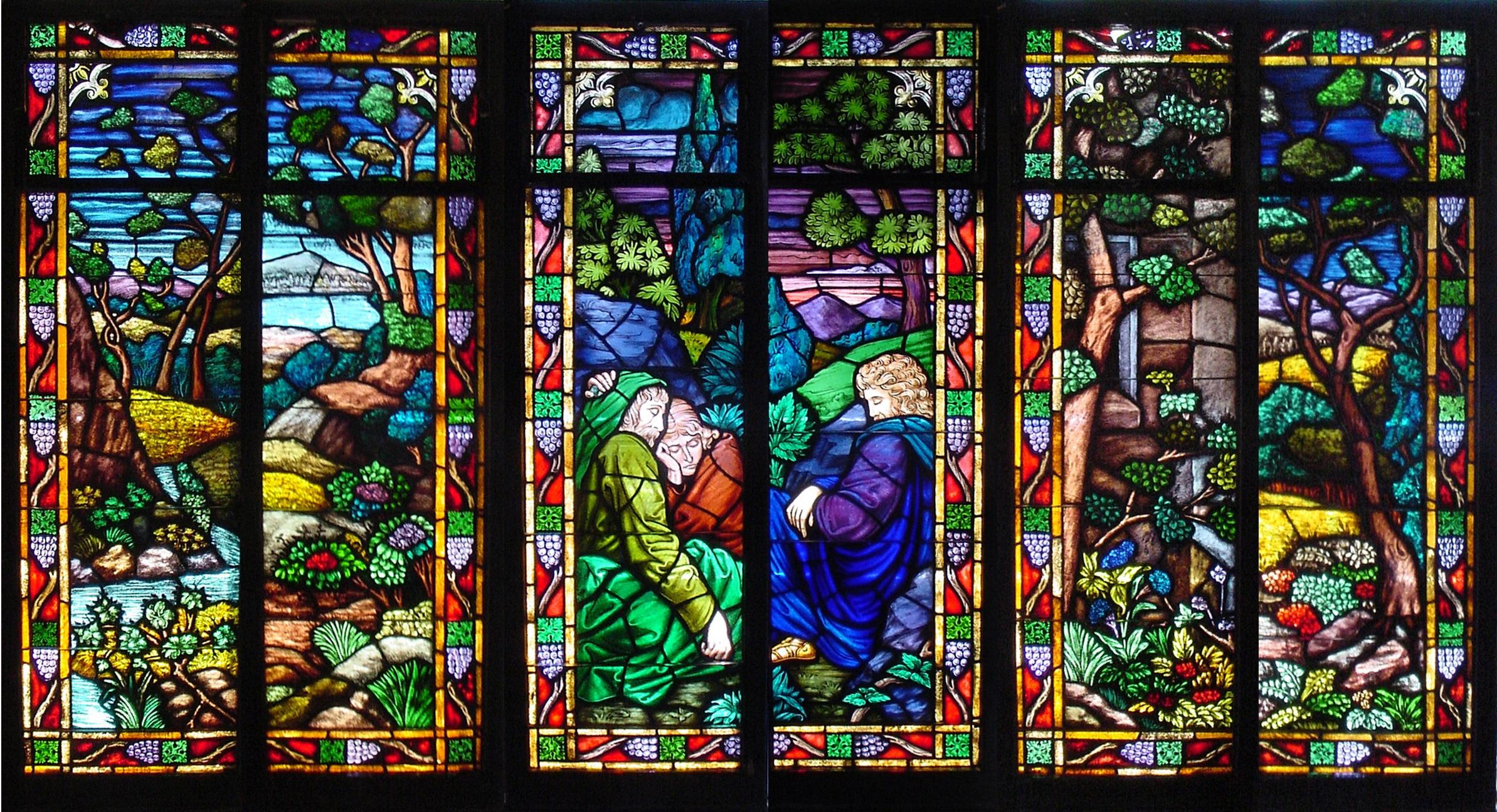 Stained Glass Art Window Bokeh D Wallpaper 2387x1296 182551 Wallpaperup