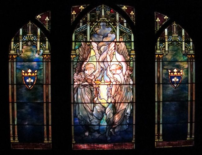 Stained glass art window religion ft wallpaper