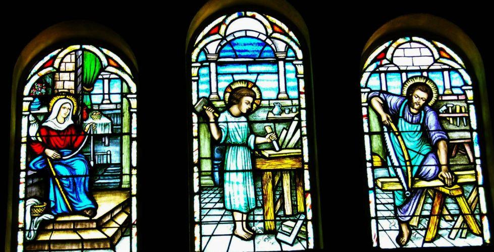 Stained glass art window religion fr wallpaper