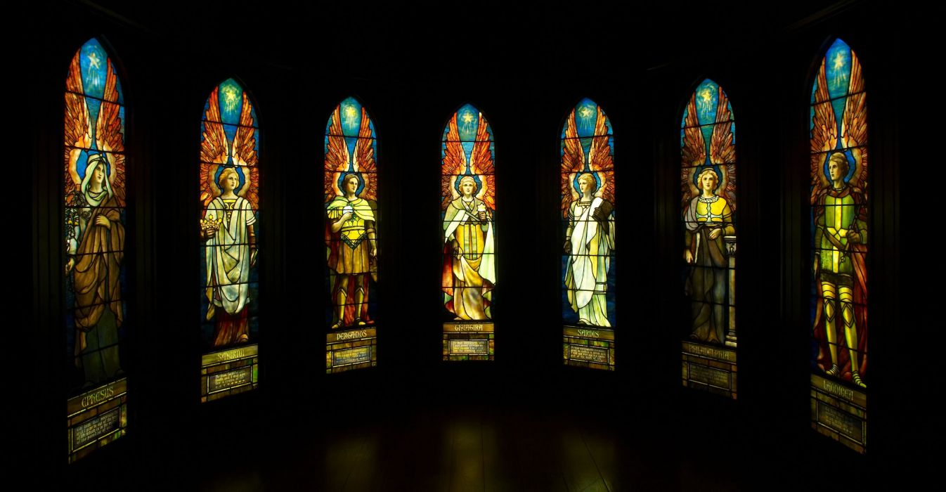 Stained Glass Art Window Religion F Wallpaper