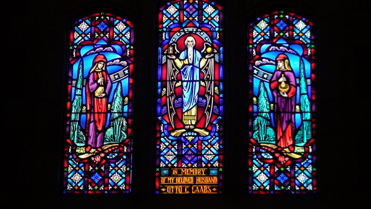 Stained Glass Art Window Religion Bokeh W Wallpaper