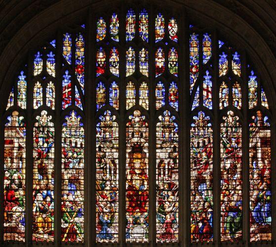 Stained glass art window religion v wallpaper