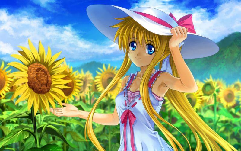 Kamio Misuzu anime sunflowers wallpaper