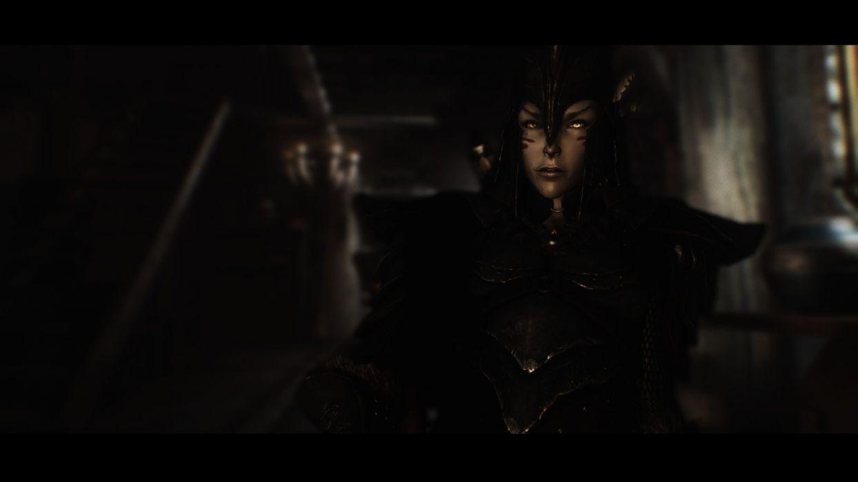 women video games elves The Elder Scrolls depth of field dark elves girls with swords The Elder Scrolls V: Skyrim wallpaper