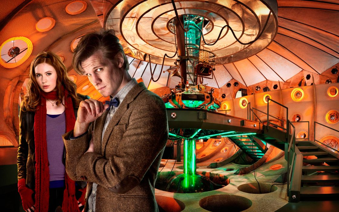 TARDIS Matt Smith Karen Gillan Amy Pond Eleventh Doctor Doctor Who wallpaper