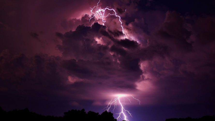 clouds storm lightning skyscapes purple sky wallpaper