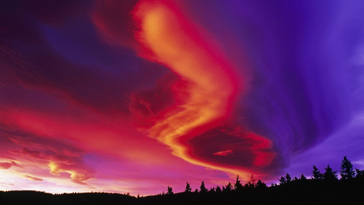 sunset Canada Alberta vibrant skyscapes wallpaper