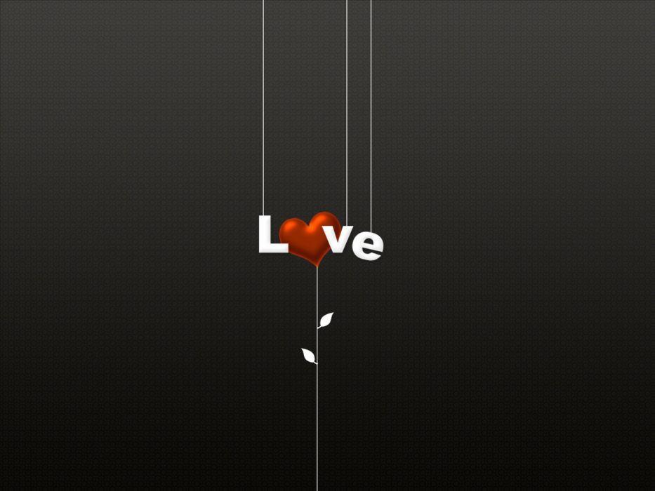 love minimalistic dark hearts wallpaper